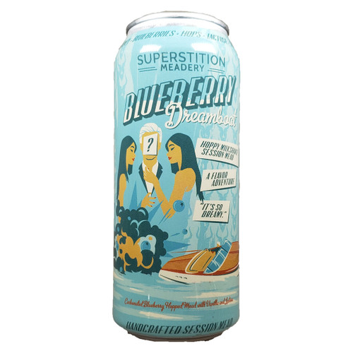 Superstition Blueberry Dreamboat Hoppy Milkshake Session Mead Can
