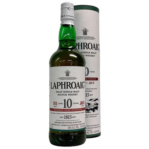 Laphroaig 10 Year Cask Strength Islay Single Malt Scotch Whisky Batch 10
