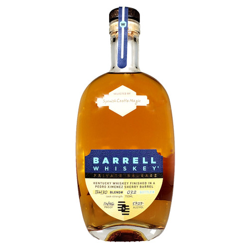 Barrell Whiskey Batch 003 Sherry and Port Pipe Finish