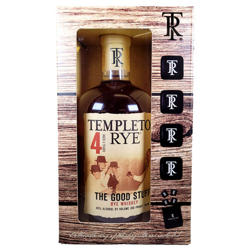 Templeton Rye Gift Pack with Whiskey Stones