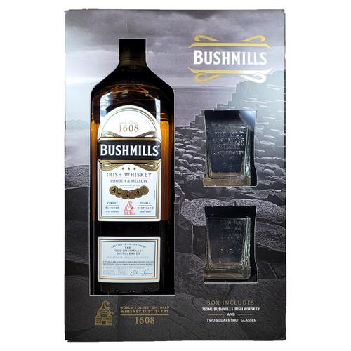 Bushmill's Irish Whiskey Gift Pack w/ 2 Shot Glasses