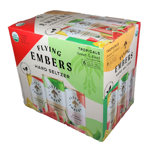 Flying Embers Sweet & Heat Hard Seltzer Variety 6-Pack Can