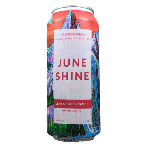 JuneShine Cran Apple Cinnamon Hard Kombucha Can