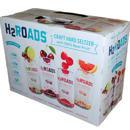 H2Roads Hard Seltzer Variety 12-Pack Can
