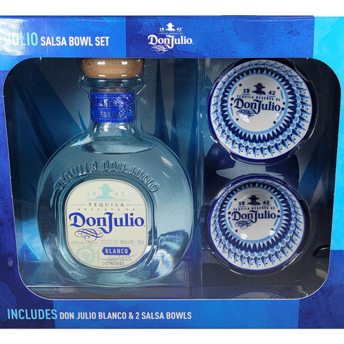 Don Julio Blanco Tequila Gift Pack with Salsa Bowls