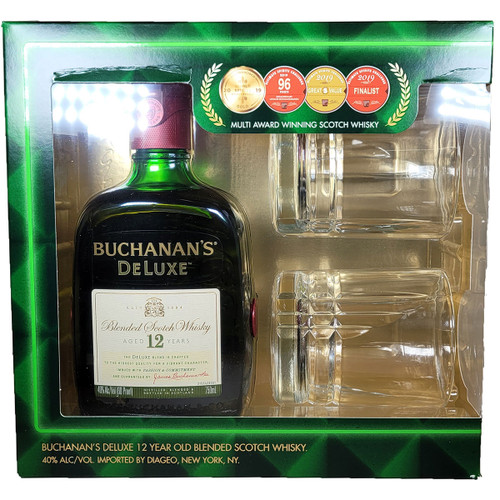 Buchanan's 12 Year Blended Scotch Whisky Gift Pack