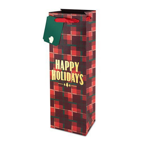 Plaid  Happy Gift Bag