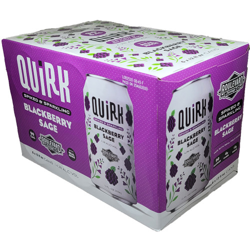 Quirk Blackberry Sage Spiked & Sparkling Seltzer 6-Pack Can