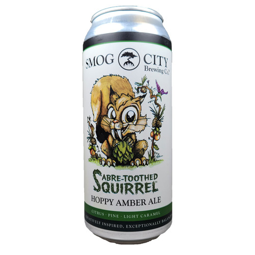 Smog City Saber Toothed Squirrel Hoppy Amber Can