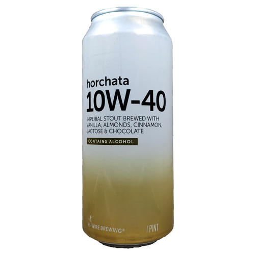 Hi-Wire 10W-40 Horchata Imperial Stout Can