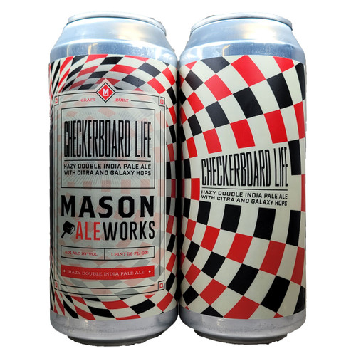 Mason Ale Works Checkerboard Life Hazy Double IPA Can