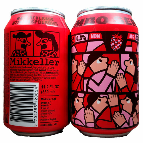 Mikkeller Limbo Series Raspberry Non-Alcoholic Fruit Beer 4-Pack Can