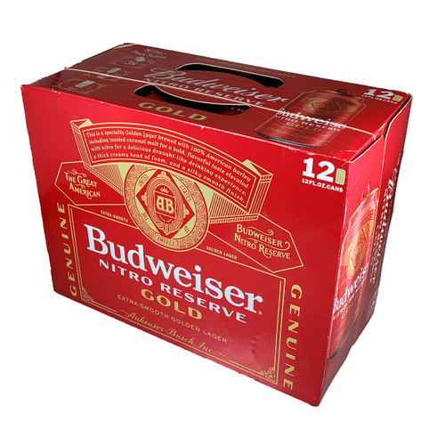Budweiser Nitro Reserve Gold 12-Pack Can, 12OZ