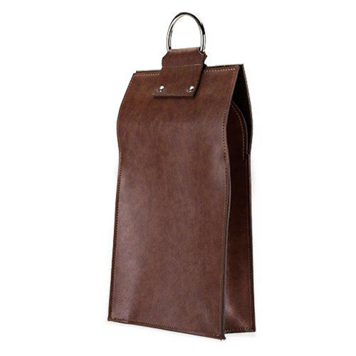 Brown Double Bottle Tote Bag