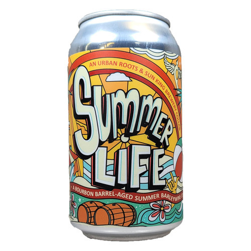 Urban Roots / Sun King Summer Life Bourbon Barrel Aged Summer Barleywine Can