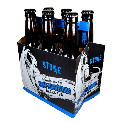 Stone Sublimely Self-Righteous Black IPA 6-Pack