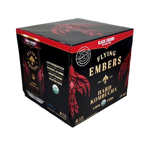 Flying Embers Black Cherry Hard Kombucha 4-Pack Can
