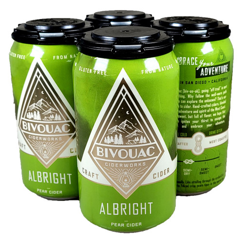 Bivouac Albright Pear Cider 4-Pack Can