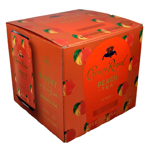 Crown Royal Whisky & Peach Tea Ready-To-Drink 4-Pack Can