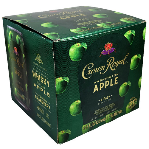 Crown Royal Whisky & Washington Apples Ready-To-Drink 4-Pack Can