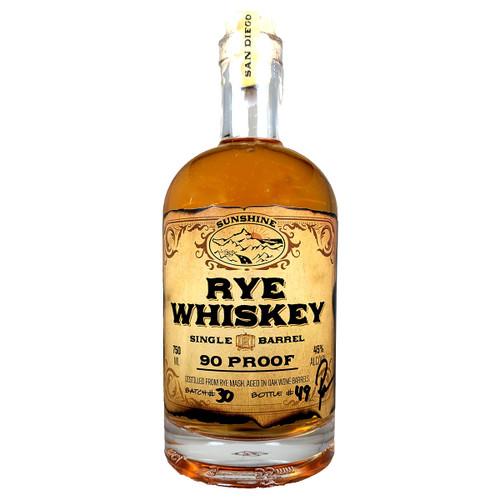 San Diego Sunshine Rye Whiskey