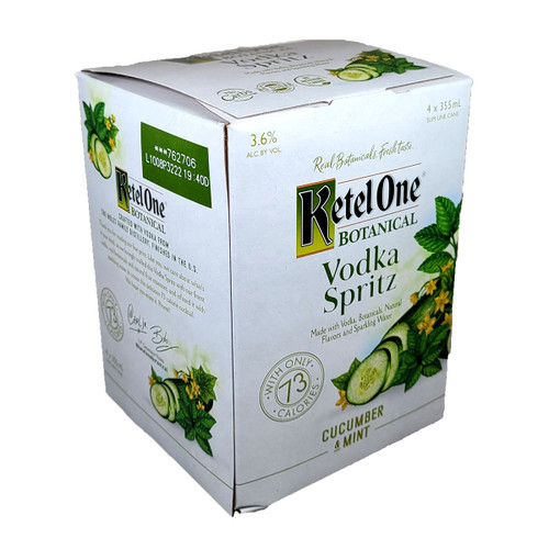 Ketel One Botanical Vodka Spritz Cucumber & Mint Ready-To-Drink 4-Pack Can
