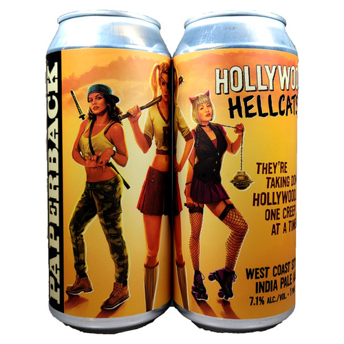 Paperback Hollywood Hellcats! West Coast Style IPA Can