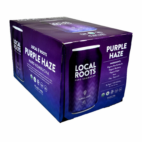 Local Roots Purple Haze Hard Kombucha 6-Pack Can