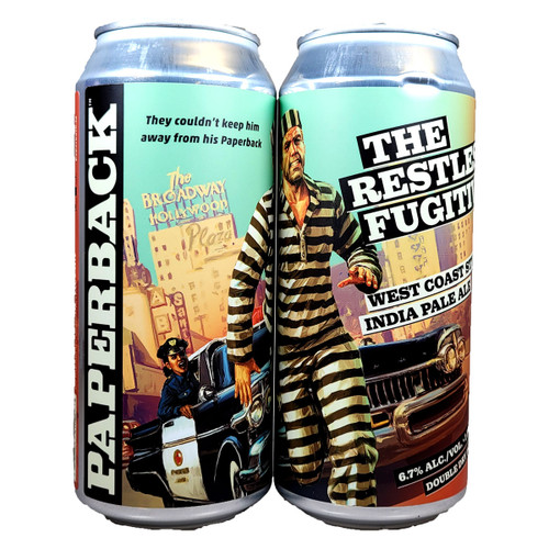 Paperback The Restless Fugitive West Coast Style IPA Can