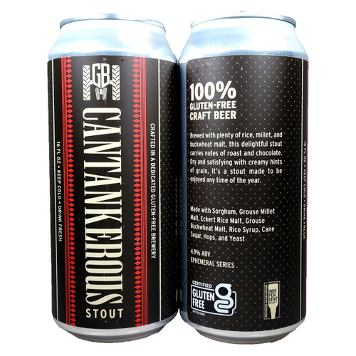 Ground Breaker Gluten Free Cantankerous Stout 4-Pack Can