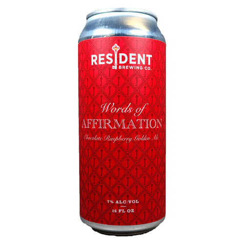 Resident Words Of Affirmation Chocolate Raspberry Golden Ale Can