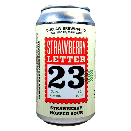 DuClaw Strawberry Letter 23 Strawberry Hopped Sour Can