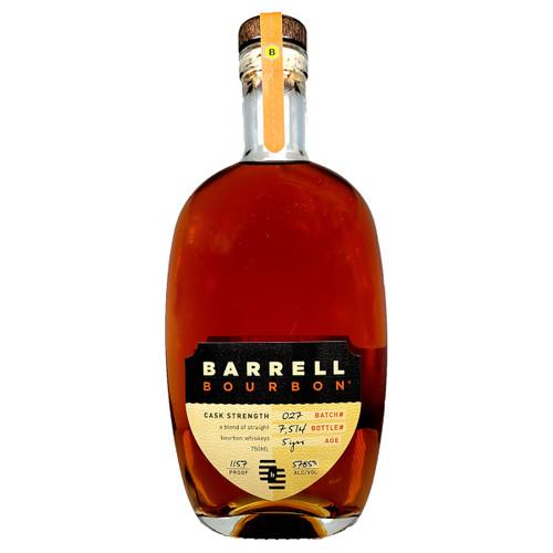 Barrell Bourbon Whiskey Batch # 027 5 Year