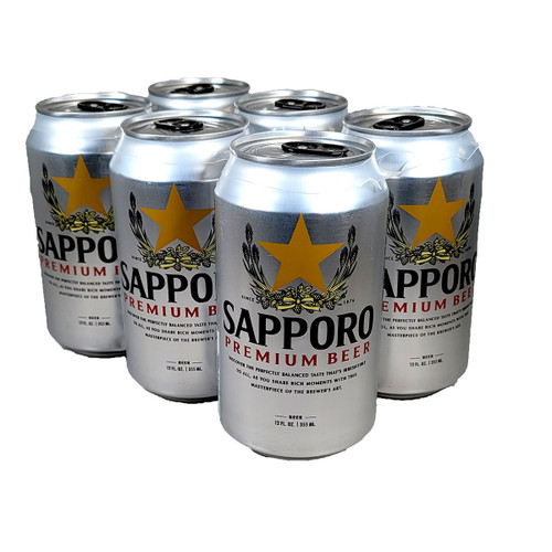 Sapporo Premium Beer 6-Pack Can