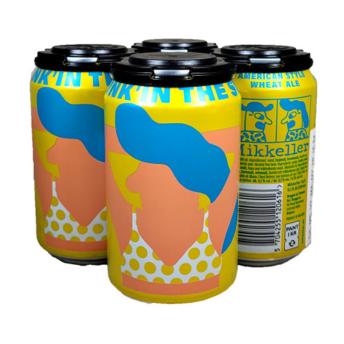 Mikkeller Drink'In The Sun Non-Alcoholic American Style Wheat Ale 4-Pack Can