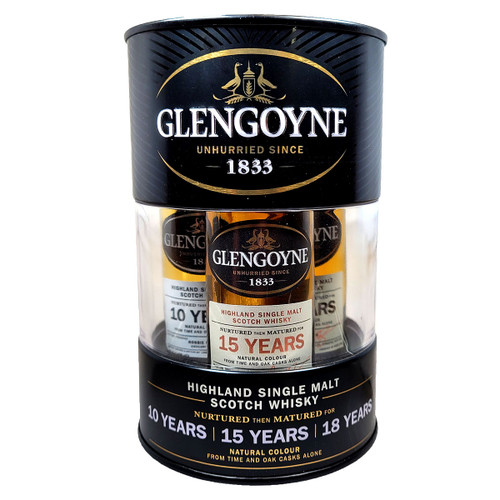 Glengoyne Combo Drum Set 10/15/18 Year Single Malt Scotch Whisky 50ml