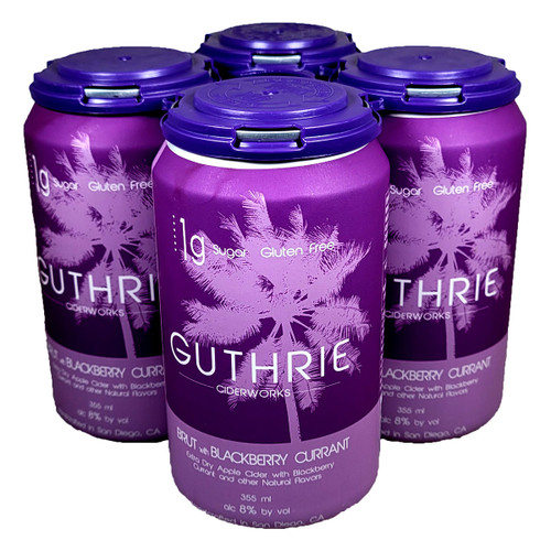 Guthrie Brut with Blackberry Currant Extra Dry Apple Cider 4-Pack Can