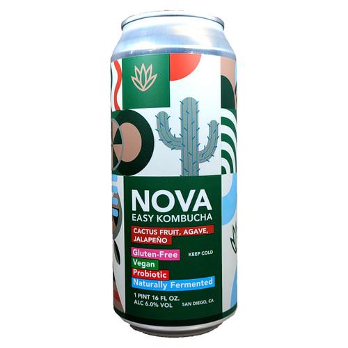 Nova Cactus Fruit, Agave, Jalapeno Easy Kombucha Can