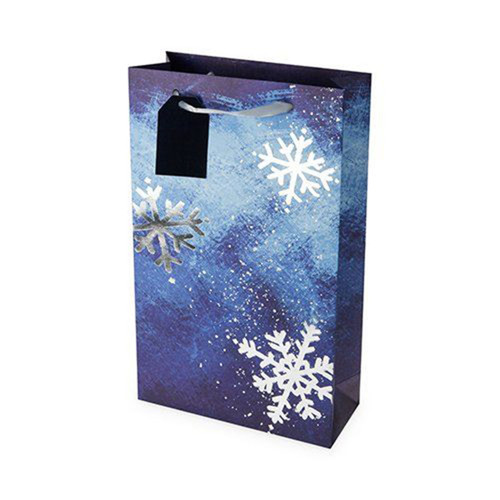 Snowflake Two Bottle Gift Bag