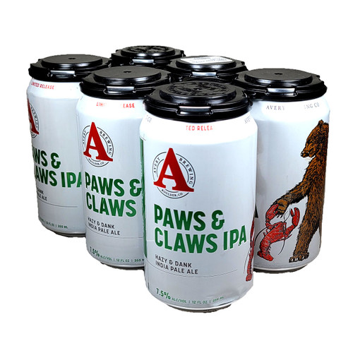Avery Paws & Claws IPA 6-Pack Can
