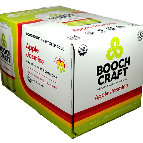 Boochcraft Apple Jasmine Kombucha 6-Pack Can