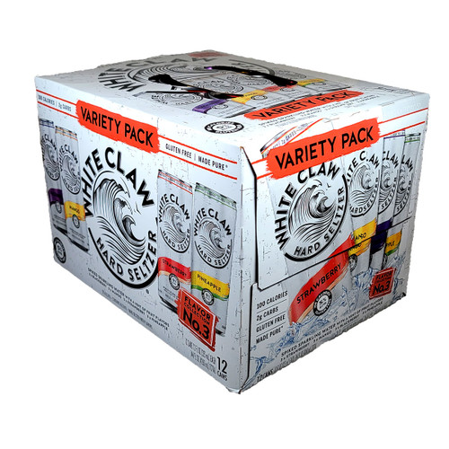 White Claw Hard Seltzer Flavor Collection No. 3 Variety 12-Pack Can