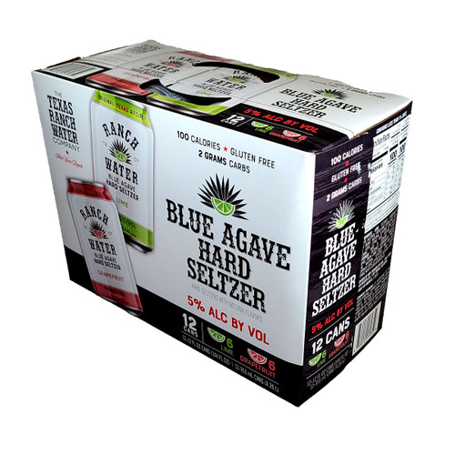 Texas Ranch Water Blue Agave Hard Seltzer Variety 12-Pack Can