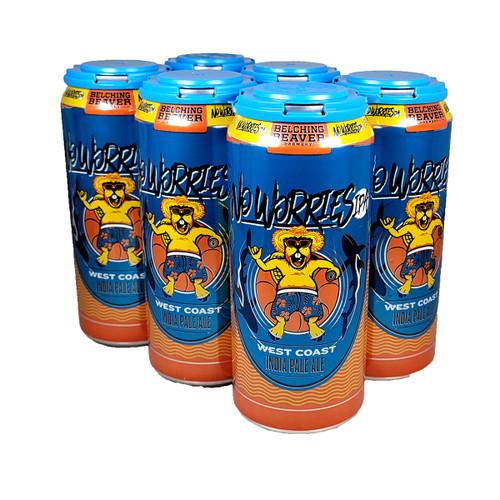 Belching Beaver No Worries West Coast IPA 6-Pack Can