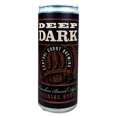 Central Coast Brewing Deep Dark Bourbon Barrel Aged Imperial Stout Can