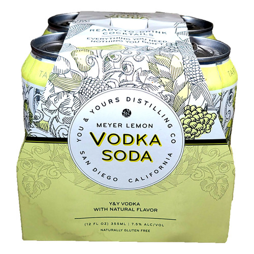You & Yours Meyer Lemon Vodka Soda Ready-To-Drink Cocktail 4-Pack Can