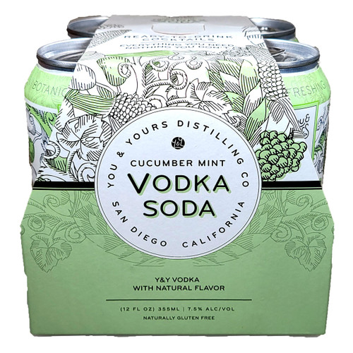 You & Yours Cucumber Mint Vodka Soda Ready-To-Drink Cocktail 4-Pack Can
