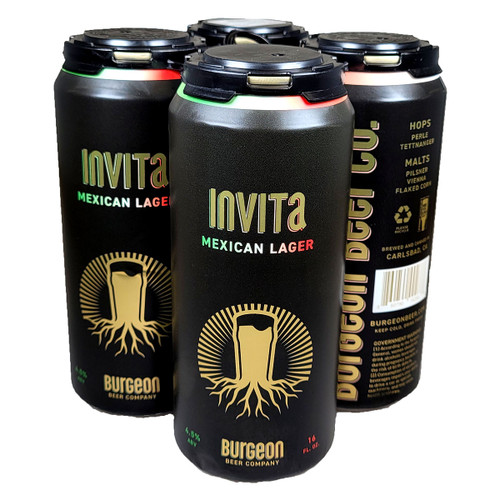 Burgeon Invita Mexican Lager 4-Pack Can