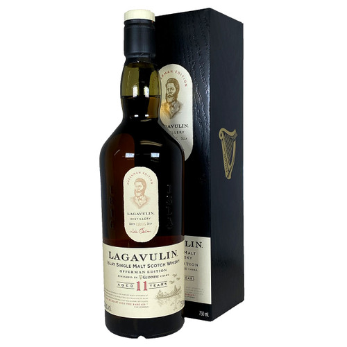 Lagavulin 11 Year Offerman Guiness Casks Limited Edition 750ml bottle and box