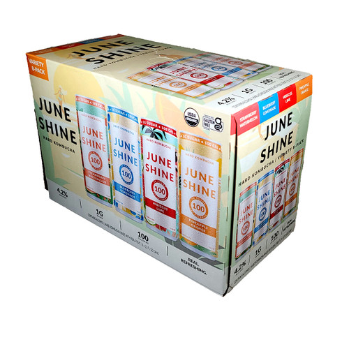 June Shine 100 Hard Kombucha Variety 8-Pack Can
